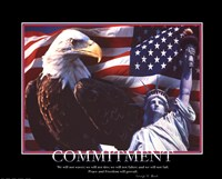 Patriotic-Commitment Framed Print