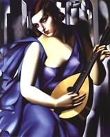Femme a Guitare Fine Art Print