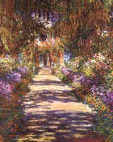 Jardin a Giverny Framed Print