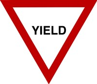 Sign - Yield Fine Art Print