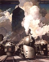 New York Central System Fine Art Print