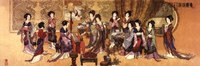 "Ladies Enjoying Music by Richard Henson - 36"" x 12"", FulcrumGallery.com brand"
