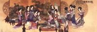 "Ladies Playing Game by Richard Henson - 36"" x 12"""