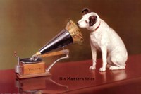 His Master's Voice Advertisement Fine Art Print