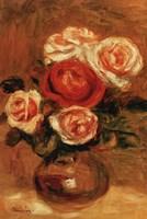 Roses In A Vase Framed Print