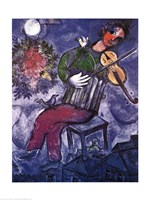 Blue Violinist Fine Art Print