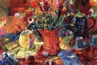 Pitcher Of Flowers Fine Art Print