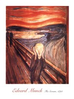 "The Scream, 1893 by Edvard Munch, 1893 - 24"" x 32"""