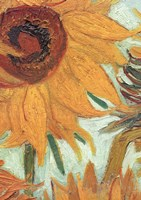 Vase with Twelve Sunflowers, .c1888 (detail) Framed Print