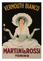 Martini and Rossi Vermouth Bianco Fine Art Print