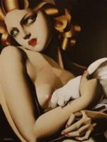 Woman with Dove Fine Art Print