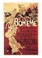Puccini-La Boheme Framed Print