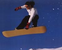 "Extreme Sports Snowboard by Richard Henson - 20"" x 16"""