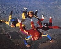 """Extreme Sport Skydiving by Richard Henson - 20"""" x 16"""""""