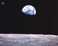 Earthrise Over the Moon Fine Art Print