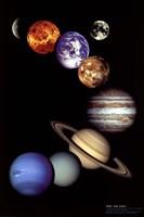 NASA - Solar System Framed Print