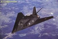 Airplane F-117 Nighthawk flying Wall Poster