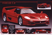 "Ferrari F-50 by Richard Henson - 36"" x 24"""