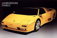 "Lamborghini Diablo by Richard Henson - 36"" x 24"""