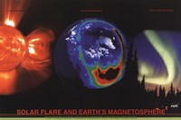 "Solar Flare and Earth's Magnetosphere by Richard Henson - 36"" x 24"""
