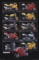 "Motorcycle-Ducati by Richard Henson - 24"" x 36"""
