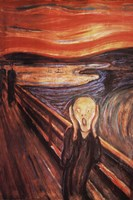 "The Scream, 1893 by Edvard Munch, 1893 - 24"" x 36"""