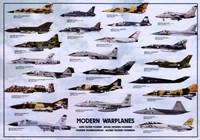 """Modern Warplanes - 38"""" x 27"""""""