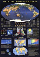 """Worl Map of Pollution and the Environment by Richard Henson - 27"""" x 38"""", FulcrumGallery.com brand"""
