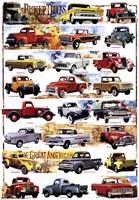 Pick-Up Trucks 1931-1980 Fine Art Print