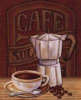 Cafe Mundo I Framed Print