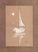 White Sailboat Fine Art Print