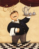 Waiter - Cafe Fine Art Print