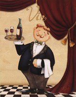 Waiter - Vin Framed Print