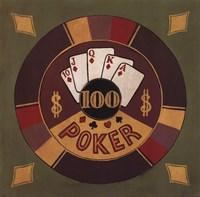 Poker - $100 Fine Art Print
