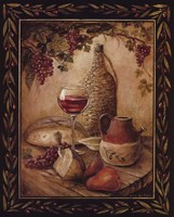 Tuscan Table - Chianti Framed Print