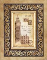 "London Postcard by Andrea Laliberte - 11"" x 14"", FulcrumGallery.com brand"