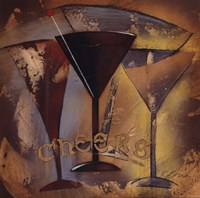 "Time for Cocktails II by Susan Osborne - 12"" x 12"" - $9.49"