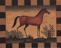 Farm Horse Framed Print