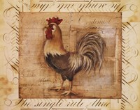 Rustic Farmhouse Rooster II Framed Print