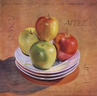 "Four Apples by Valerie Sjodin - 12"" x 12"""