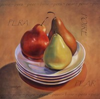 "Three Pears by Valerie Sjodin - 12"" x 12"""