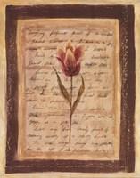 """Garden Notes II by Banafshe Schippel - 11"""" x 14"""""""