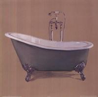 Green Bathtub Fine Art Print