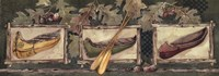 "Three Canoes by Anita Phillips - 17"" x 6"""