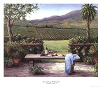 Overlooking the Vineyard Fine Art Print