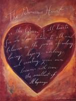 Generous Heart Framed Print