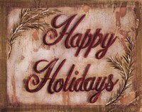 """Happy Holidays by Grace Pullen - 10"""" x 8"""""""