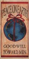 """Peace on Earth by Grace Pullen - 10"""" x 20"""""""