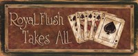 Royal Flush Takes All Fine Art Print