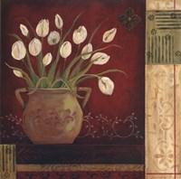 Villa Tulips Framed Print